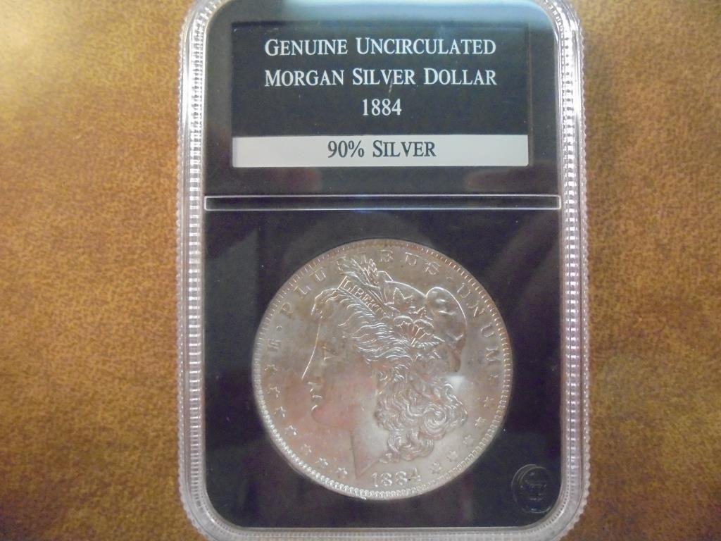 1884-O MORGAN SILVER DOLLAR UNC