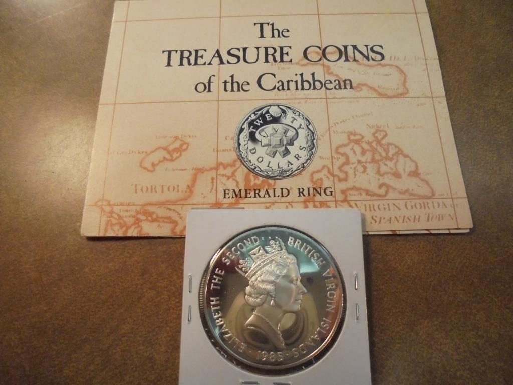 1985 BRITISH VIRGIN ISLANDS SILVER PROOF $20 - 2
