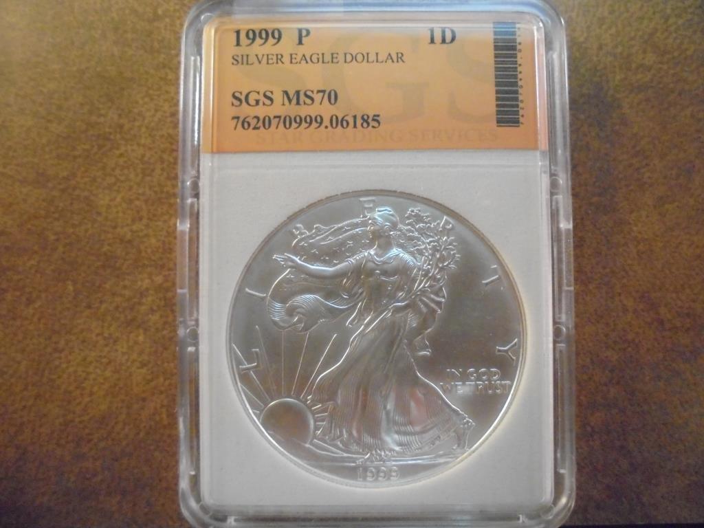 1999 AMERICAN SILVER EAGLE MS PERFECT