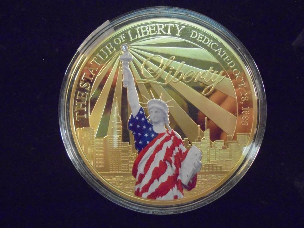 """2 3/4"""" COLORIZED GOLD COLOR PROOF ROUND"""