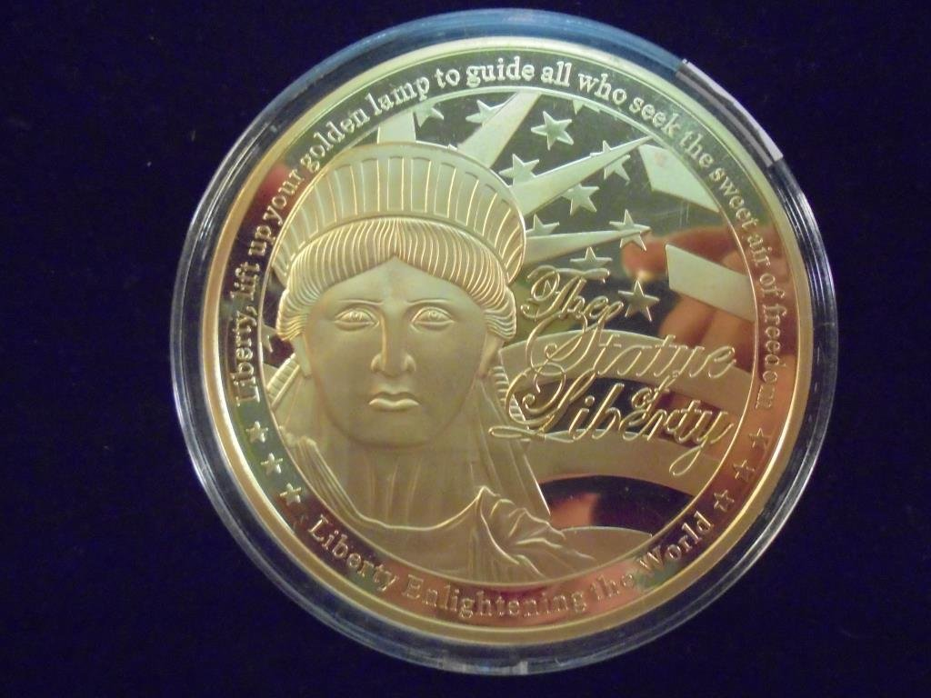 """2 3/4"""" COLORIZED GOLD COLOR PROOF ROUND - 2"""