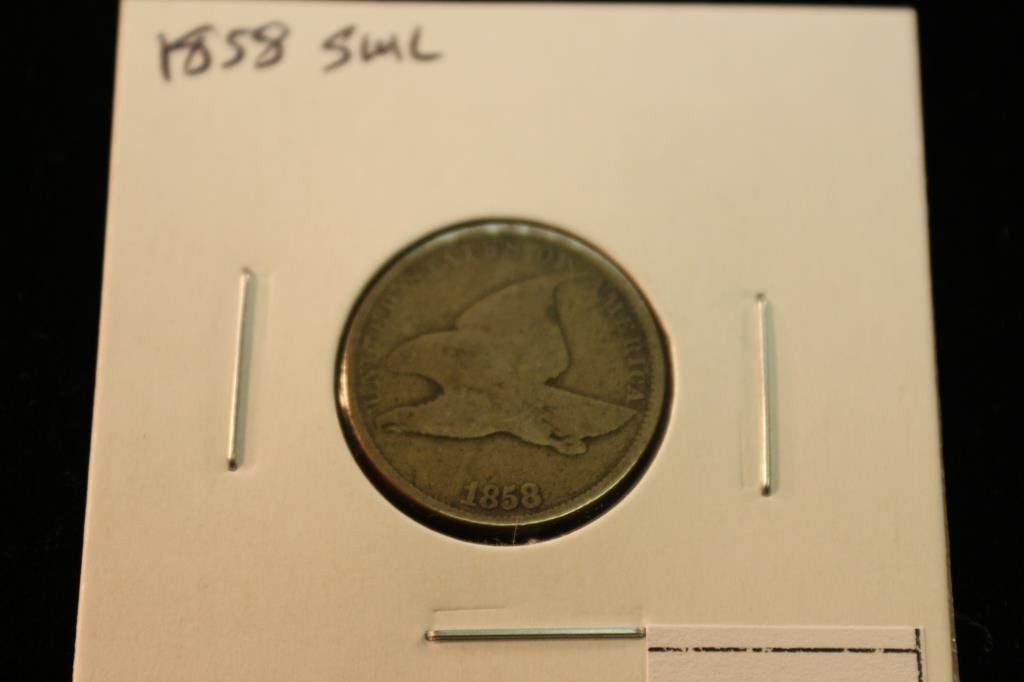 1858 (SMALL LETTER) FLYING EAGLE CENT