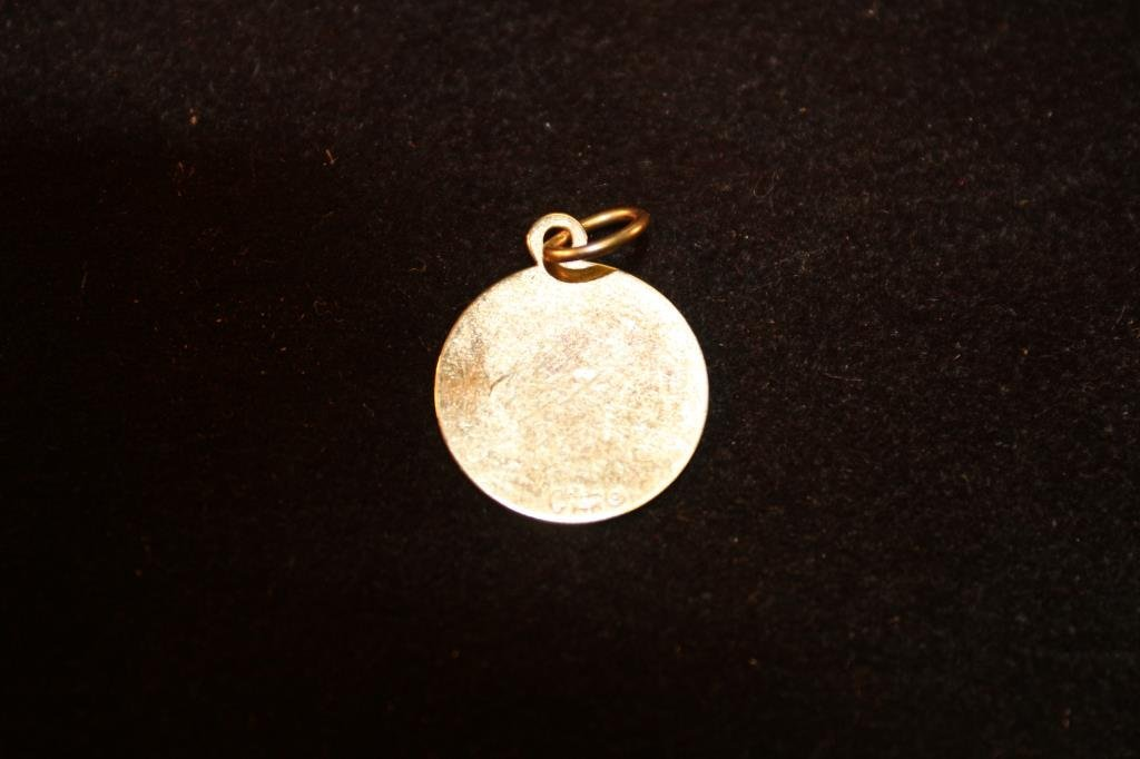 APPROX. .7 GRAM 14KT GOLD LAKE TAHOE CHARM - 2