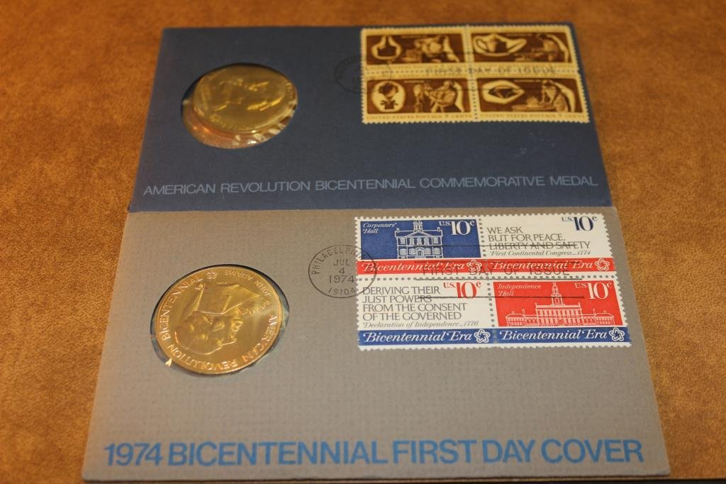 1972 & 1974 US BICENTENNIAL 1ST DAY COVERS