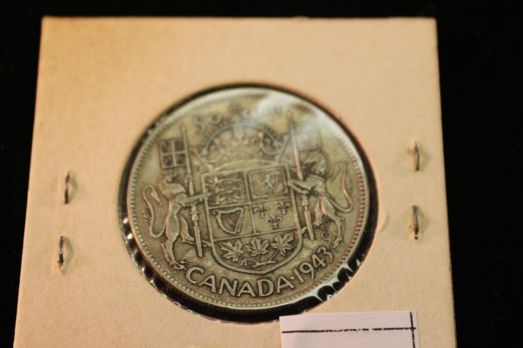 1943 CANADA SILVER 50 CENTS