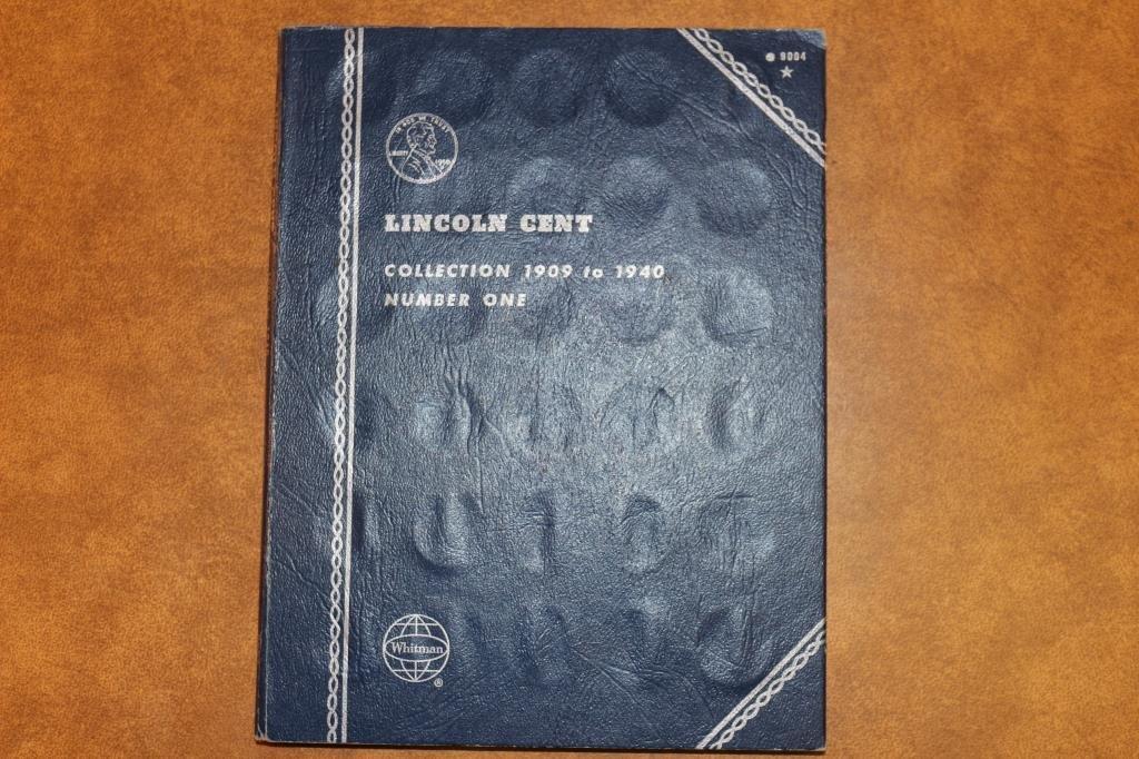 PARTIAL LINCOLN CENT  ALBUM 1909-1940 63 COINS - 2