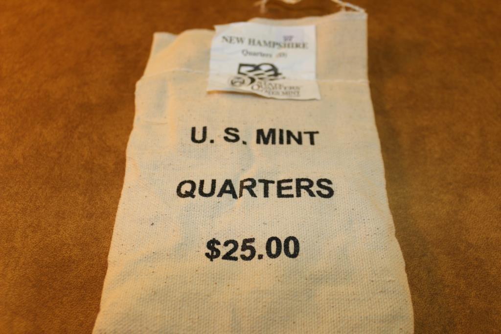 $25 US MINT BAG OF 2000-D NEW HAMPSHIRE QUARTERS