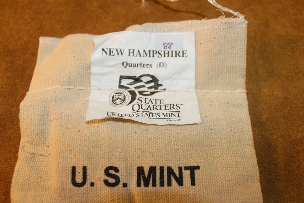 $25 US MINT BAG OF 2000-D NEW HAMPSHIRE QUARTERS - 2