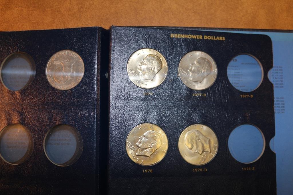 PARTIAL 1971-1978 EISENHOWER DOLLAR SET 5 COINS - 2