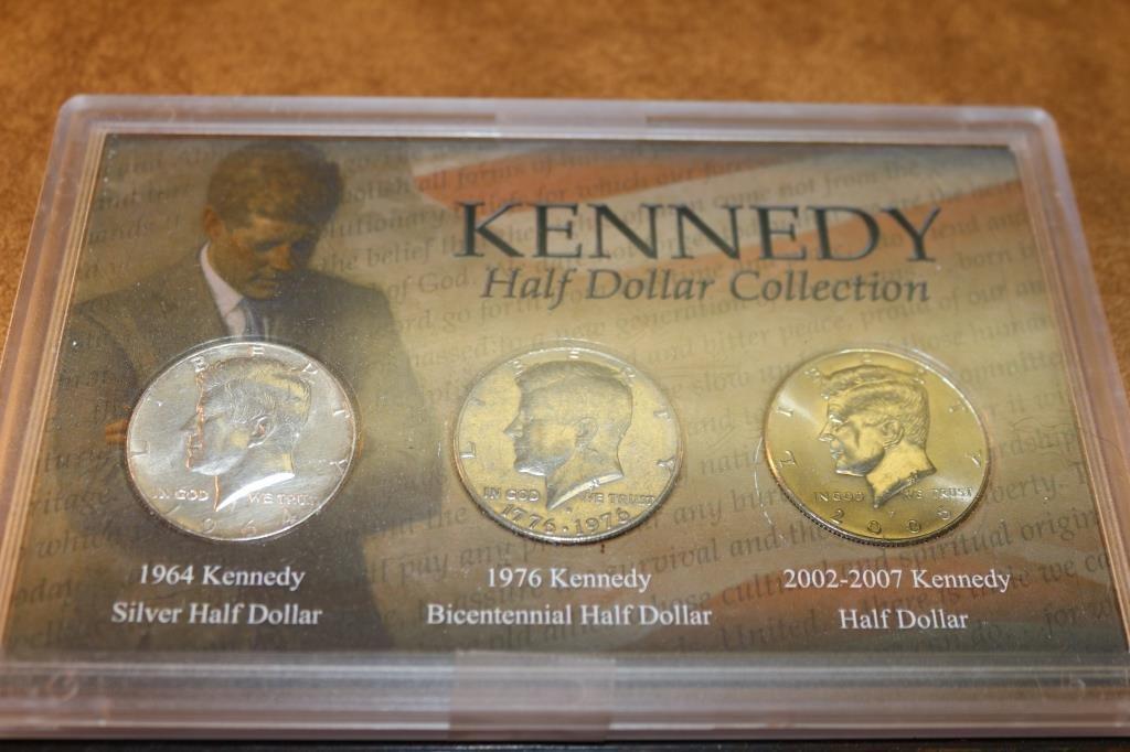 KENNEDY HALF DOLLAR COLLECTION 1964-90% SILVER