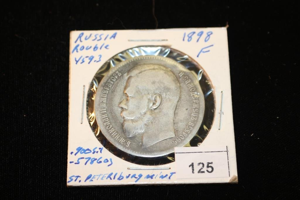 1898 RUSSIA SILVER ROUBLE