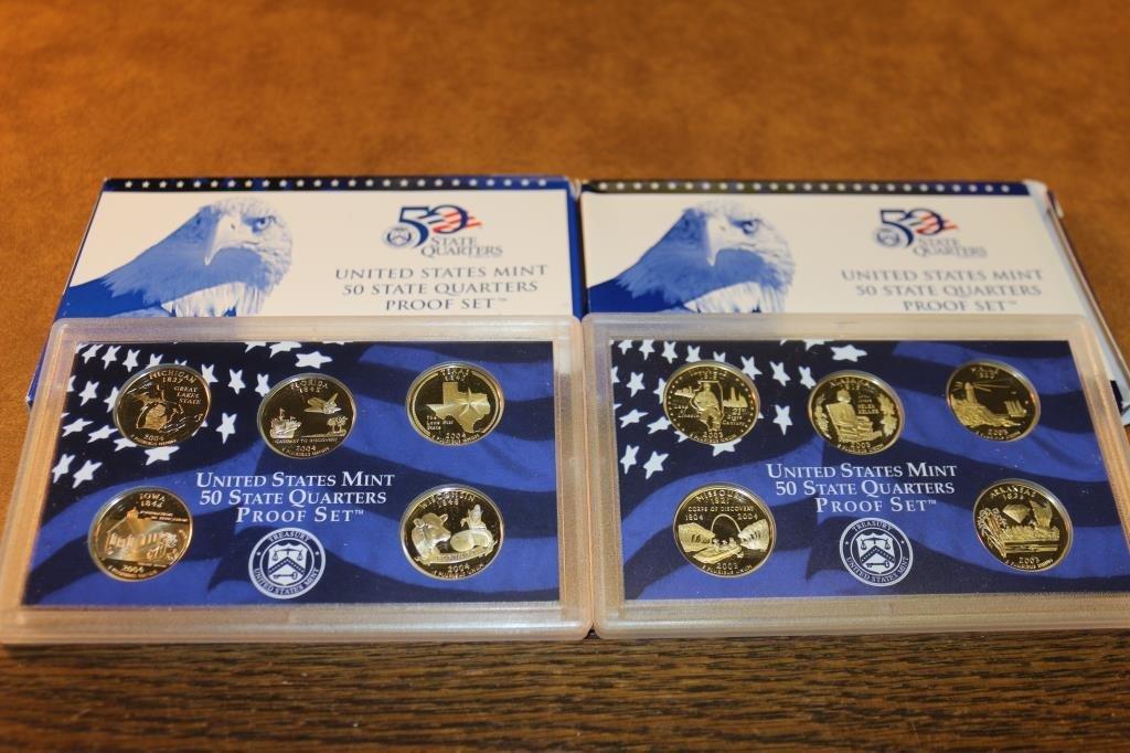 2003 & 2004 US 50 STATE QUARTERS PROOF SETS