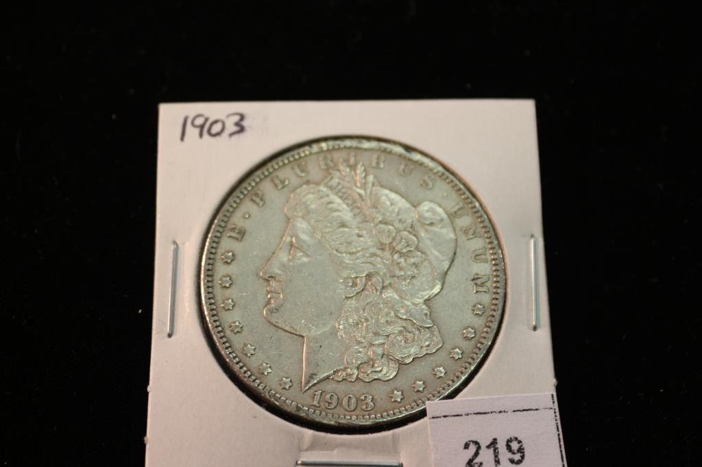 1903 MORGAN SILVER DOLLAR RIM BUMPS