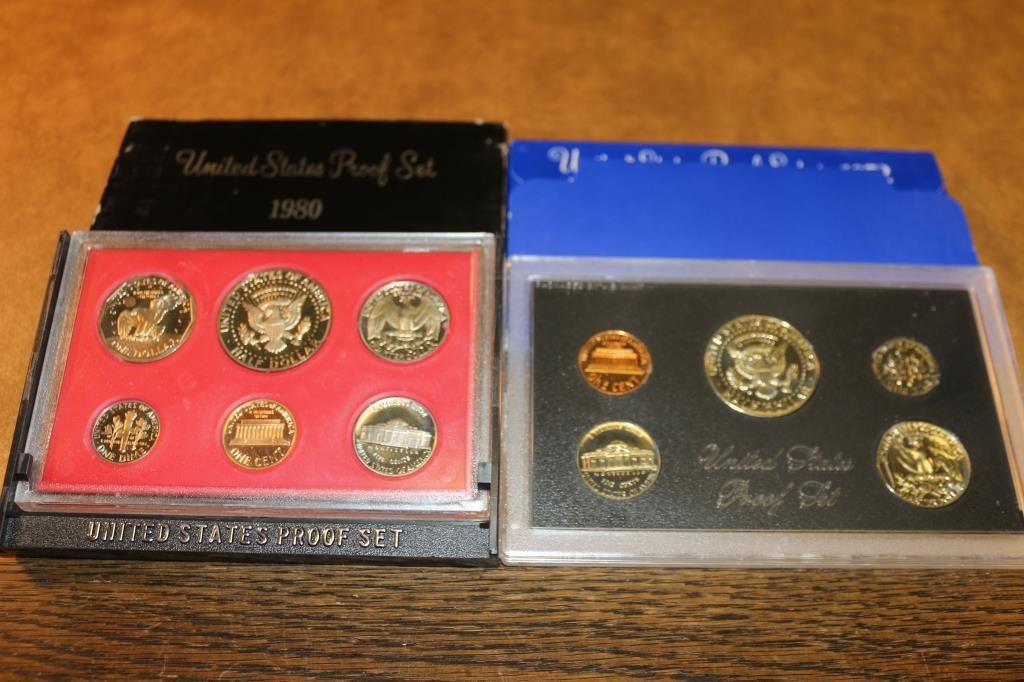 1972 & 1980  US PROOF SETS (WITH BOXES) - 2