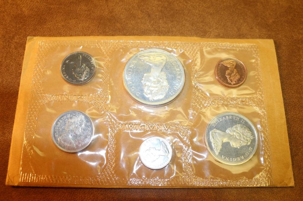 1967 SILVER CANADA FLYING GOOSE (PF LIKE) SET WITH - 2