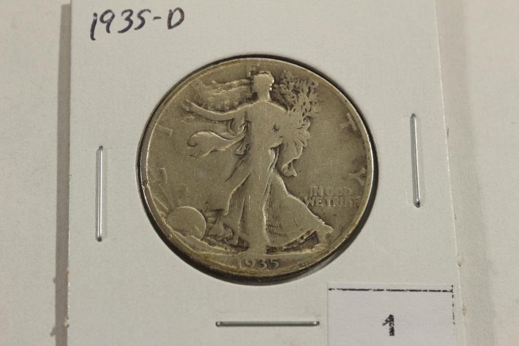 1935-D WALKING LIBERTY HALF DOLLAR