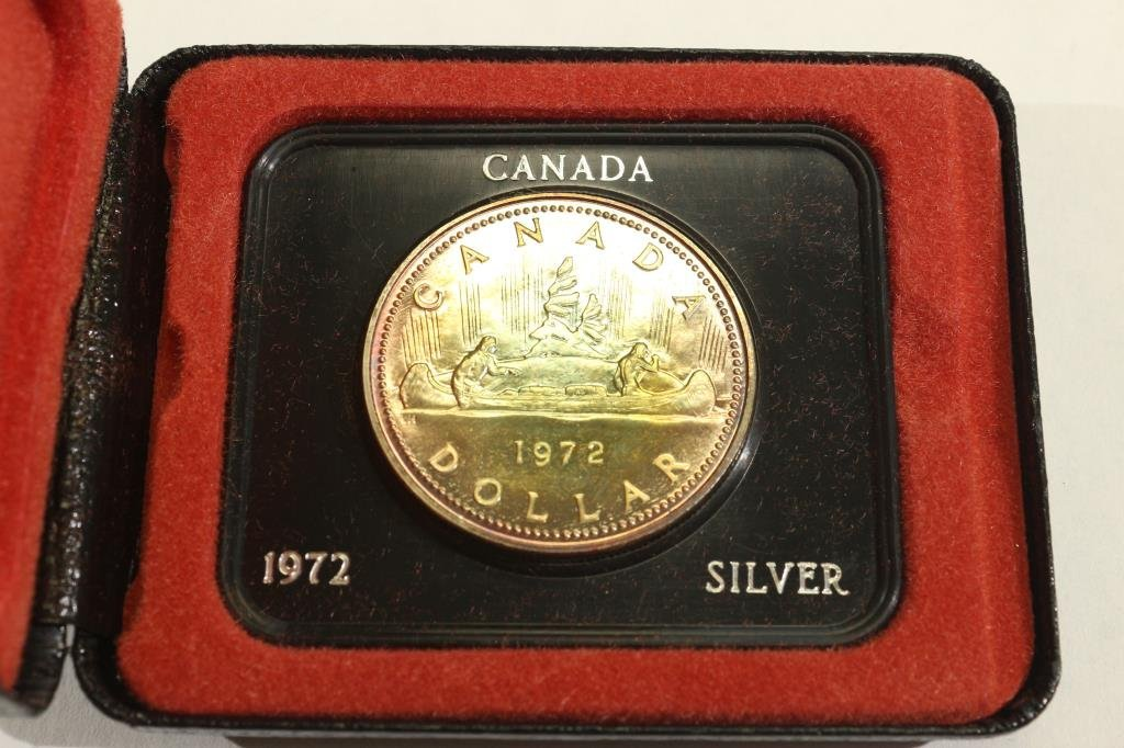1972 CANADA SILVER DOLLAR PROOF TONED