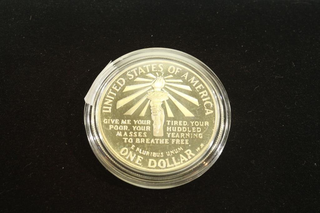 1986-S STATUE OF LIBERTY PROOF SILVER DOLLAR - 2