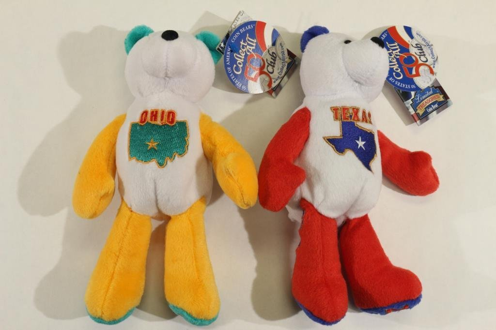 2 US MINT US 50 STATE QUARTERS COIN BEARS