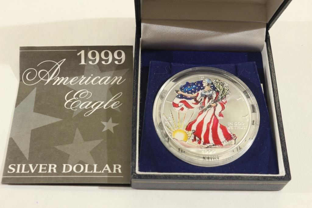 1999 COLORIZED AMERICAN SILVER EAGLE
