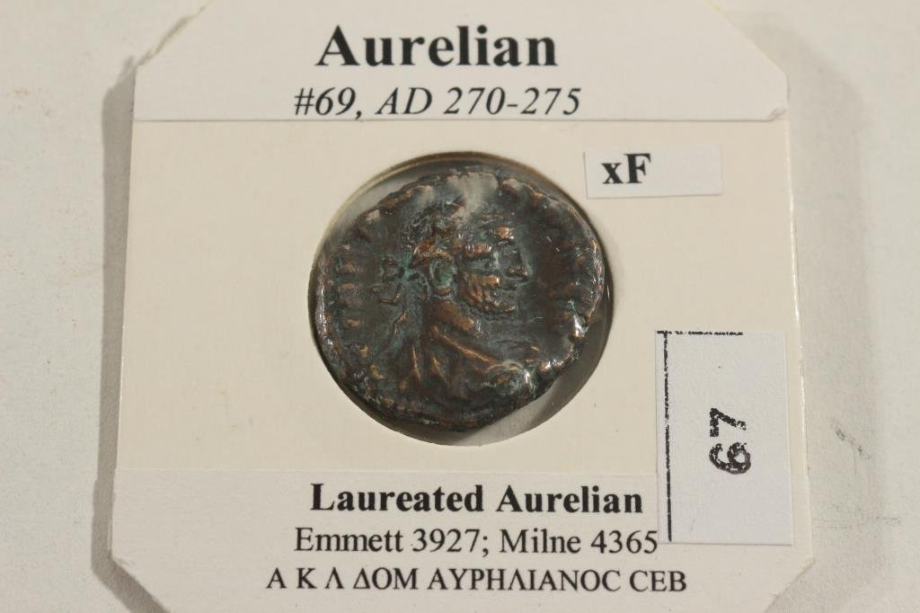270-275 .A.D. AURELIAN ANCIENT COIN EXTRA FINE