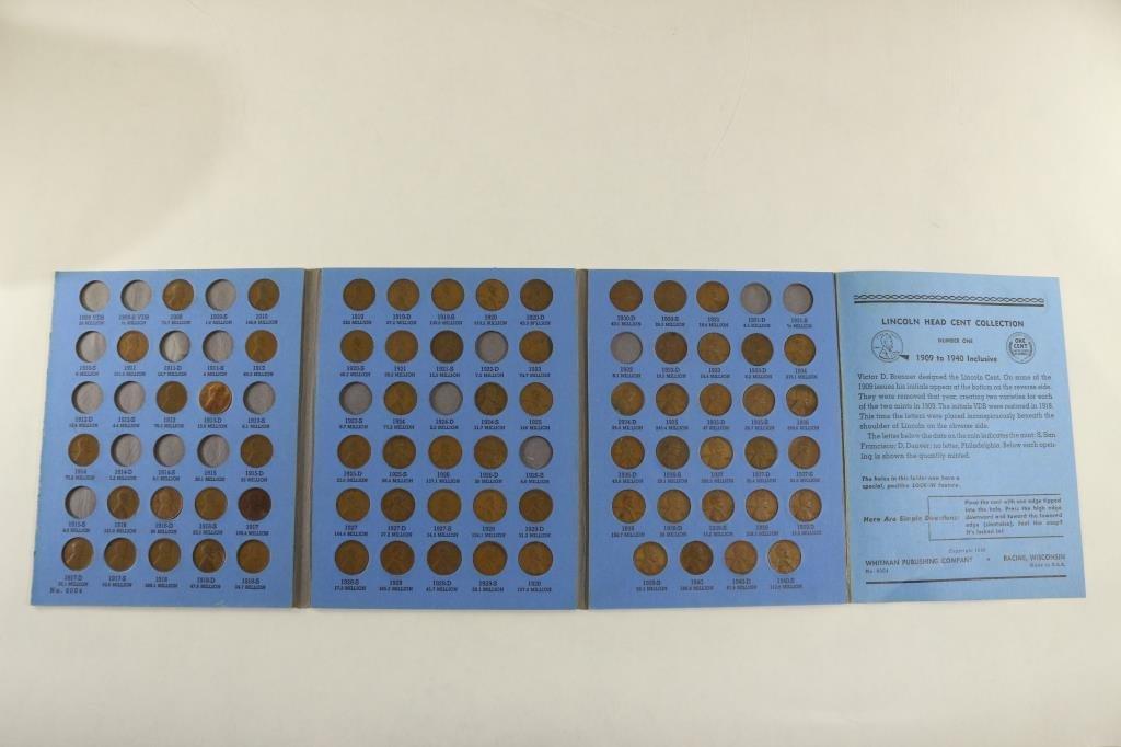 PARTIAL 1909-1940 LINCOLN CENT SET 69 COINS