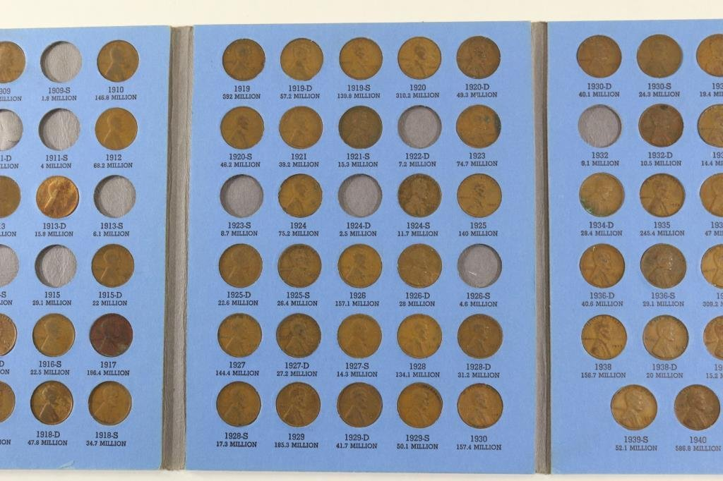 PARTIAL 1909-1940 LINCOLN CENT SET 69 COINS - 3