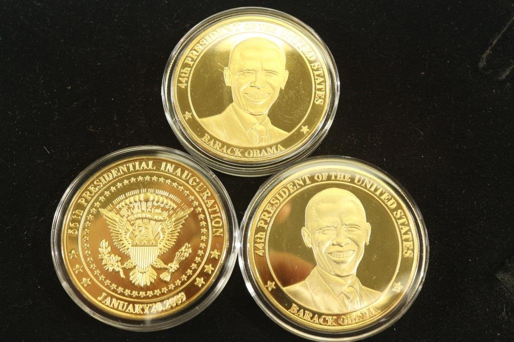 3-2009 BARACK OBAMA INAUGURATION TOKENS (PF)