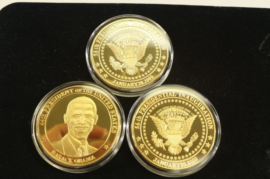 3-2009 BARACK OBAMA INAUGURATION TOKENS (PF) - 2