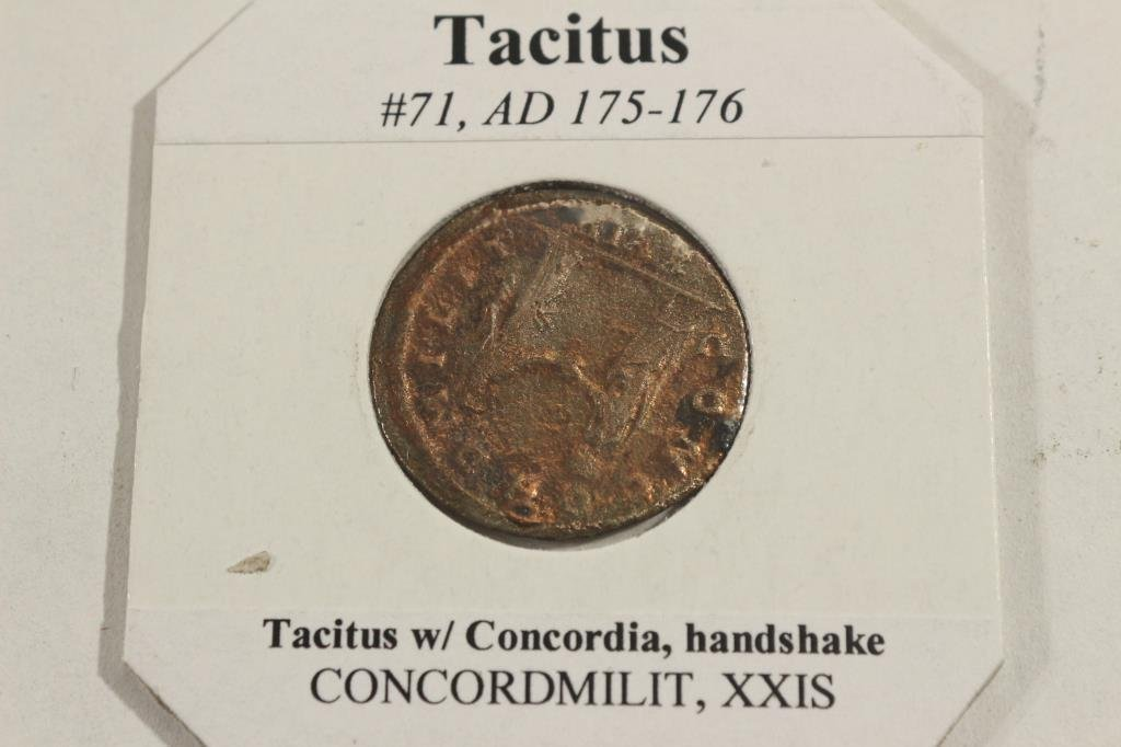 175-176 A.D. TACITUS ANCIENT COIN VERY FINE - 2