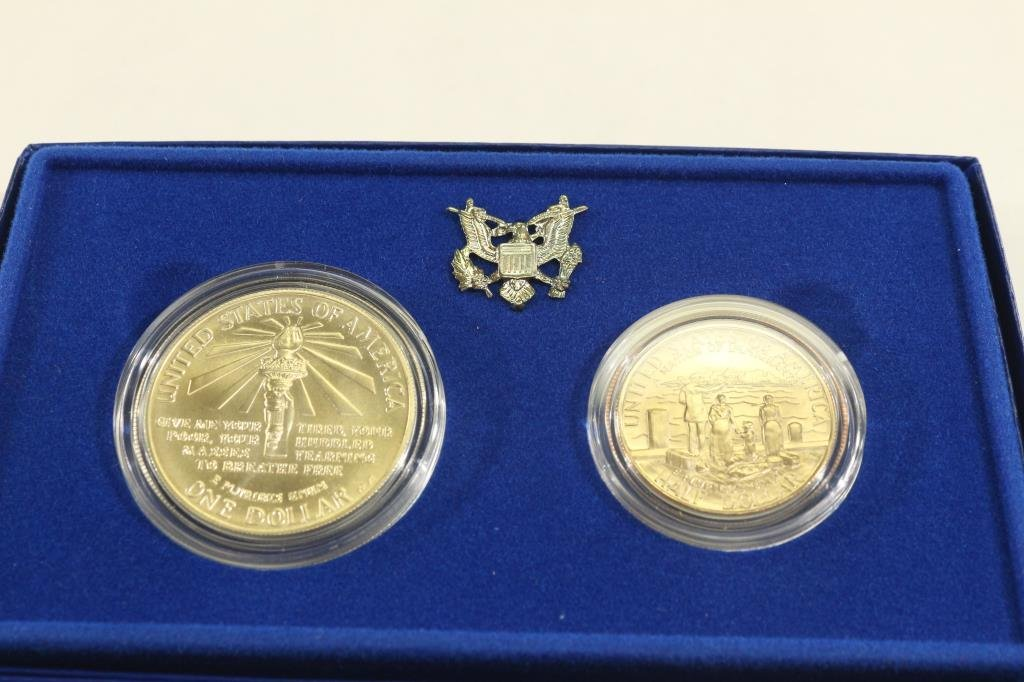 1986 STATUE OF LIBERTY 2 COIN UNC SET - 2