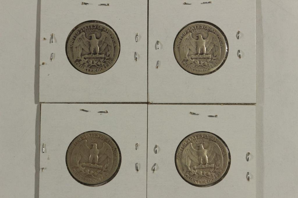 1941,46,52-S & 54 WASHINGTON SILVER QUARTERS - 2