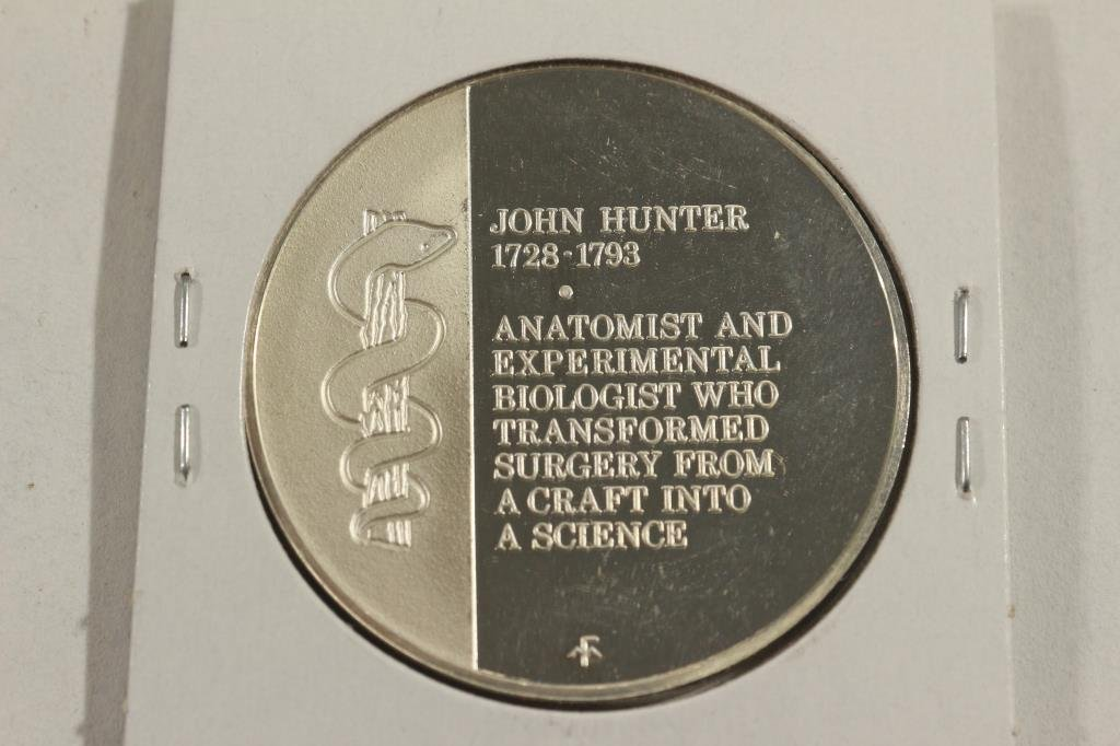 27.7 GRAM STERLING SILVER PROOF ROUND J. HUNTER - 2