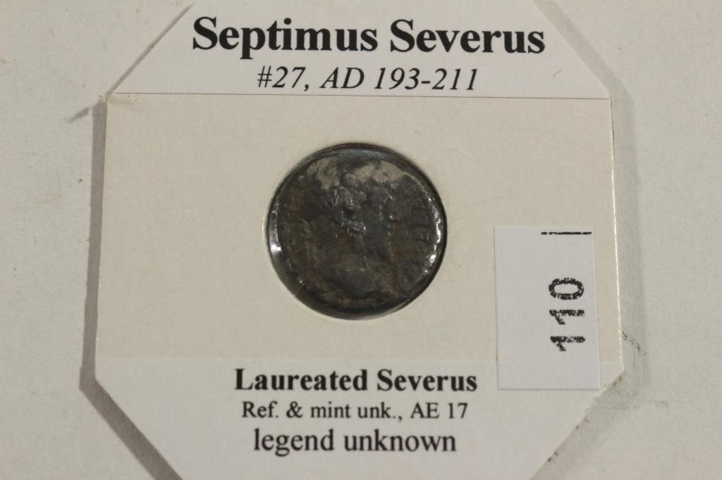 193-211 A.D. SEPTIMUS SEVERUS ANCIENT COIN