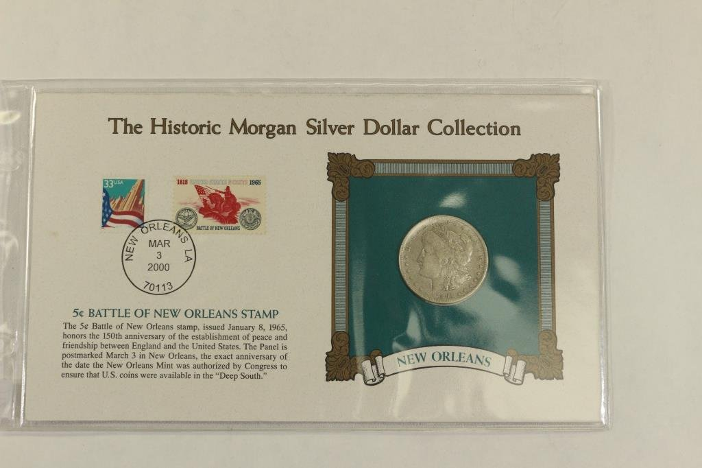 1891-O MORGAN SILVER DOLLAR & STAMP SET