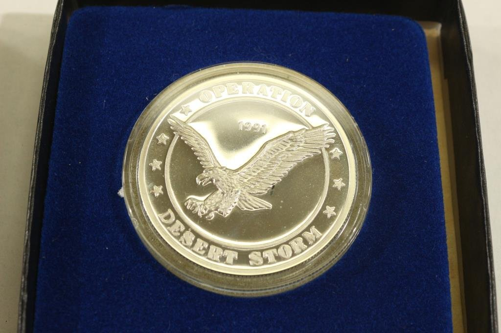 1 TROY OF .999 PURE SILVER ROUND 1991 OPERATION