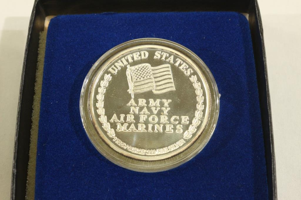 1 TROY OF .999 PURE SILVER ROUND 1991 OPERATION - 2