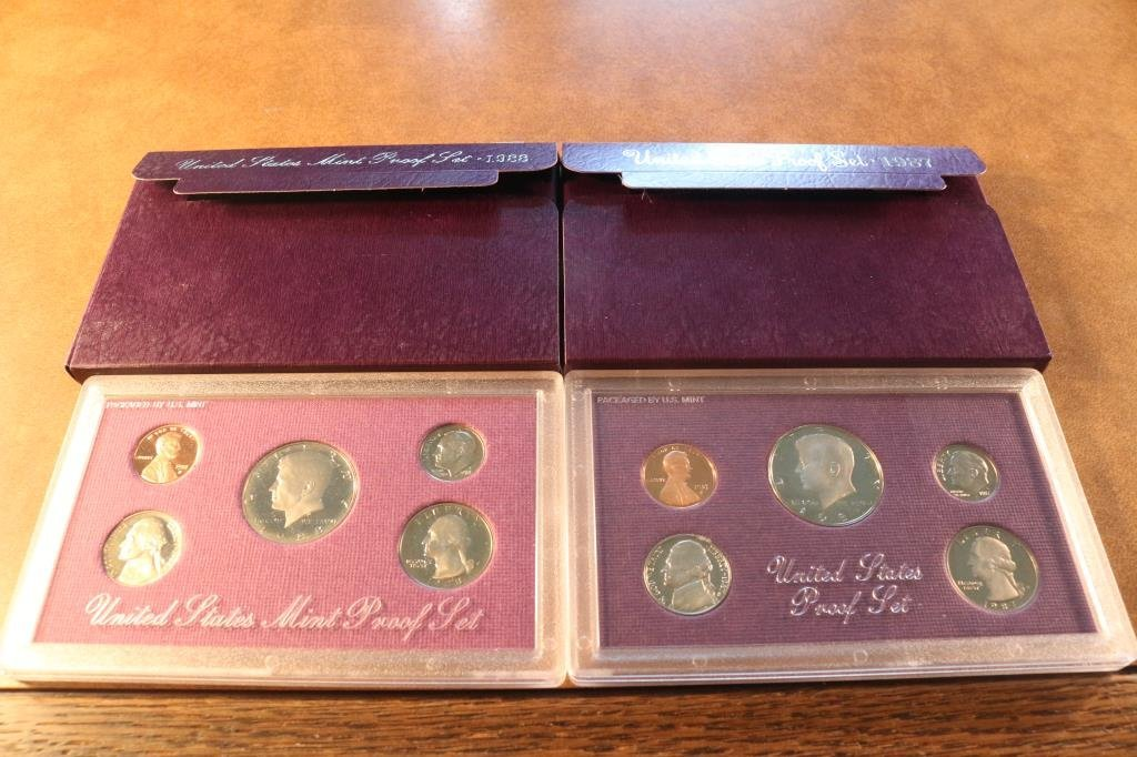 1987 & 1988 US PROOF SETS (WITH BOXES)