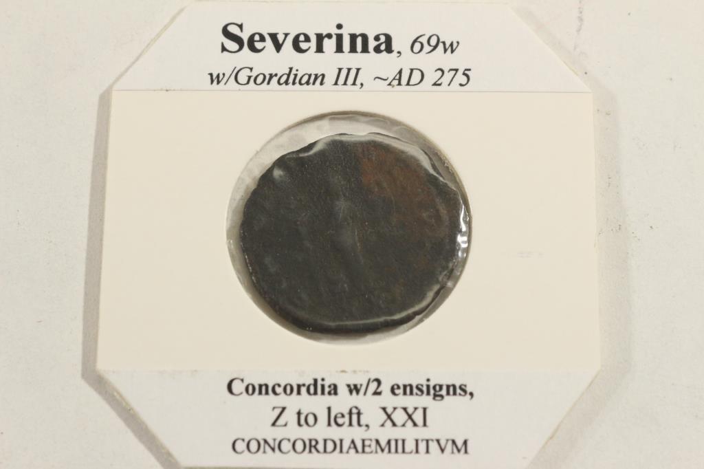 SILVER BILLON 275 A.D. SEVERINA ANCIENT COIN - 2