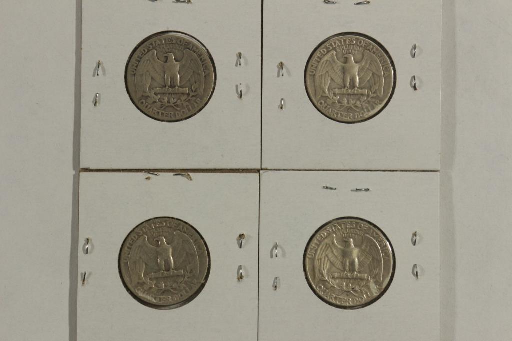1948,51,54 & 62-D WASHINGTON SILVER QUARTERS - 2