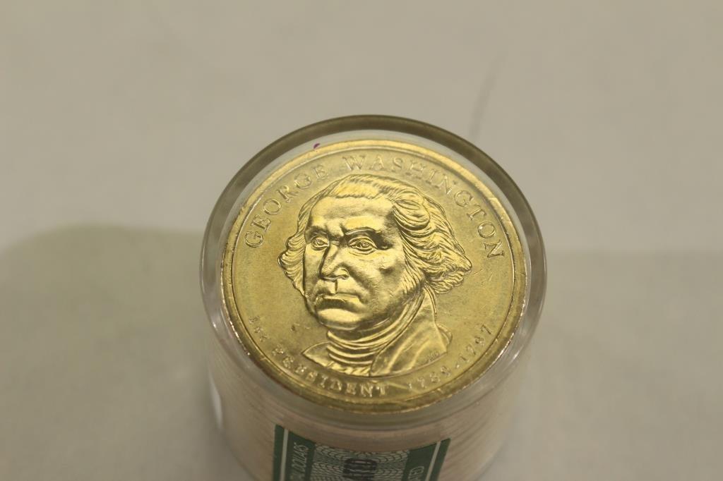 ROLL OF 12-2007-P WASHINGTON DOLLARS UNC - 2