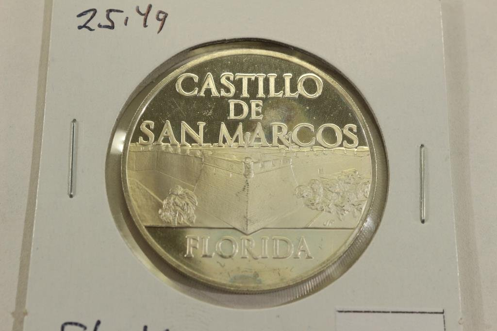 25.4 GRAM STERLING SILVER PROOF ROUND CASTILLO