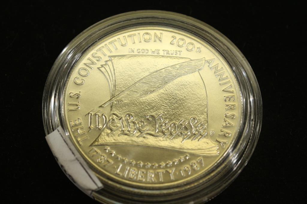 1987-P US CONSTITUTION UNC SILVER DOLLAR