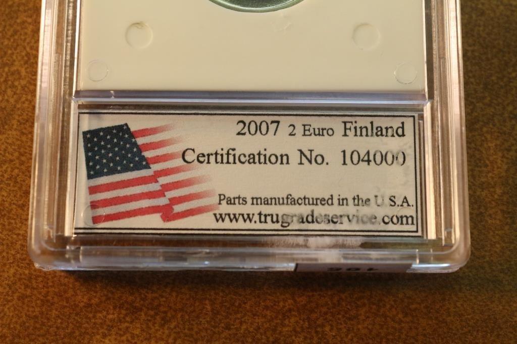 2007 FINLAND 2 EURO PROOF ULTRA DEEP CAMEO - 3