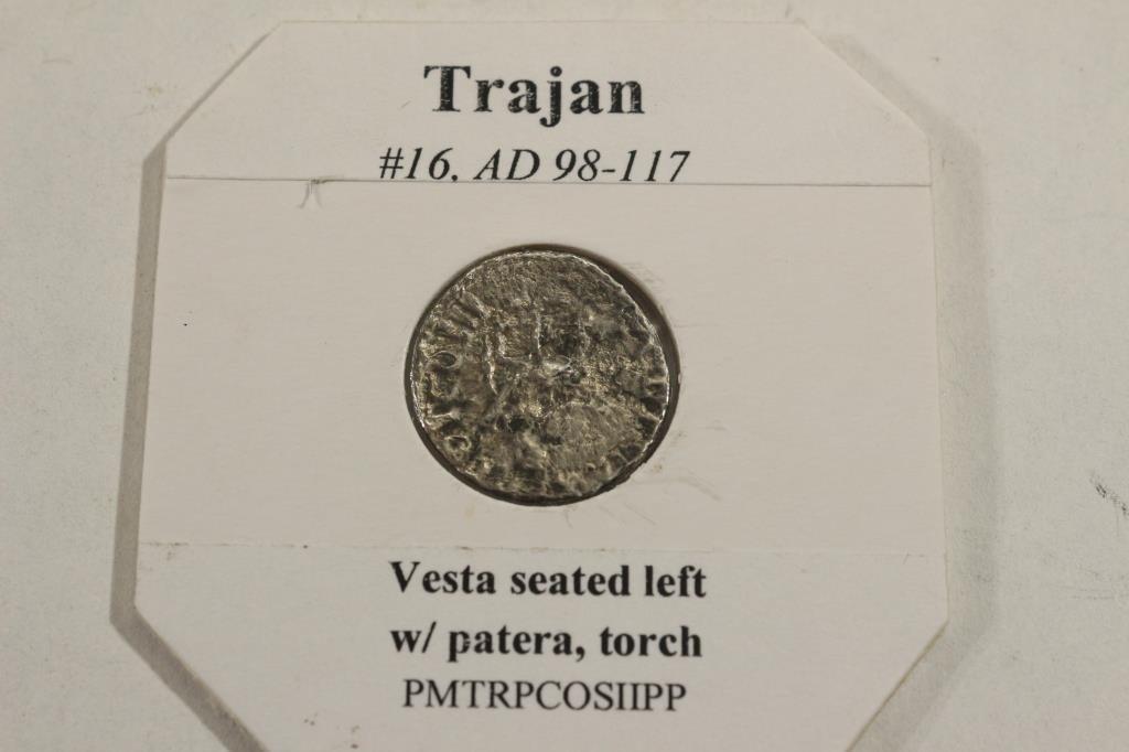 SILVER 98-117 A.D. TRAJAN ANCIENT COIN (FINE) - 2