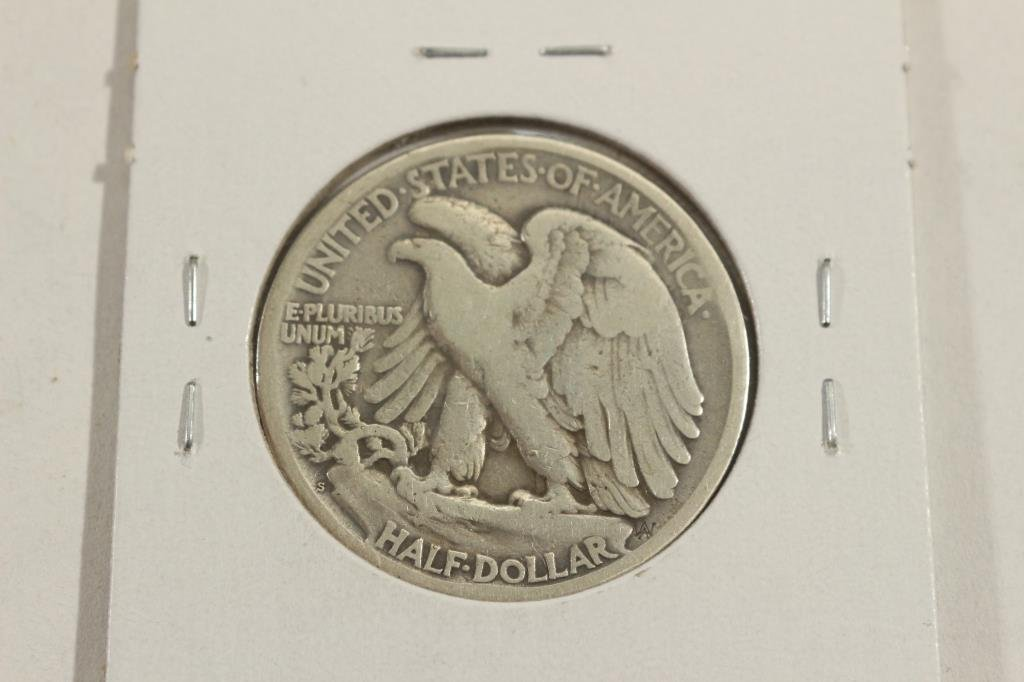 1918-S WALKING LIBERTY HALF DOLLAR WITH RIM BUMP - 2