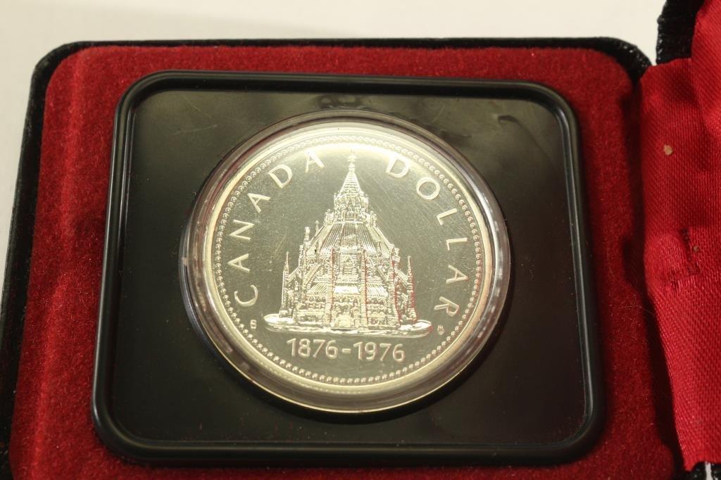 1976 CANADA PARLIAMENT SILVER DOLLAR PROOF