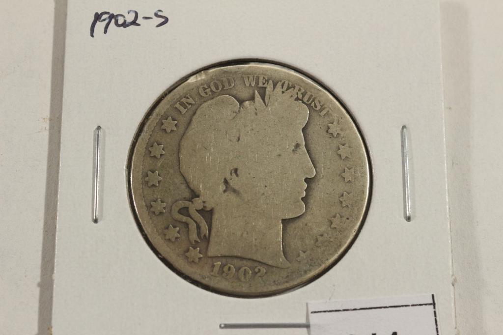 1902-S BARBER HALF DOLLAR