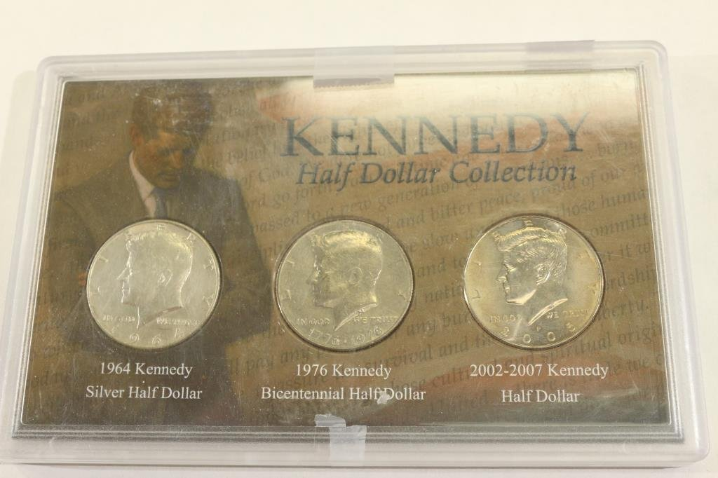 KENNEDY HALF DOLLAR SET INCLUDES 1964-90% SILVER