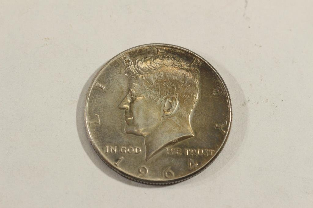 MAGICIANS COIN OBV. 1964 90% SILVER JFK & REV.